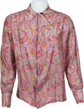 Music Memorabilia:Costumes, Jimi Hendrix Owned/Worn Psychedelic Long-Sleeve Shirt (1960s)....