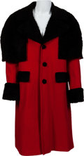 Music Memorabilia:Costumes, Elvis Presley Owned Full-Length Coat With Fur Trim and Cape (1970s)....