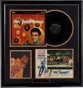 Music Memorabilia:Autographs and Signed Items, Elvis Presley Framed Display....