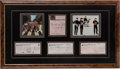 Music Memorabilia:Autographs and Signed Items, The Beatles Framed Display with Signed Checks and Receipt(1967-73)....