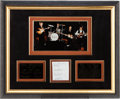 Music Memorabilia:Autographs and Signed Items, Beatles Framed Photo with Contract Signatures (c. 1969)....