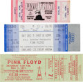 Music Memorabilia:Tickets, Pink Floyd Concert Ticket Group (1977-87).... (Total: 3 Items)