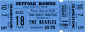 Music Memorabilia:Tickets, Beatles Suffolk Downs Concert Ticket (Frank Connelly Productions, 1966)....
