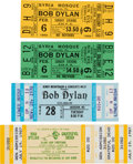 Music Memorabilia:Tickets, Bob Dylan Concert Ticket Group (1966-87).... (Total: 4 Items)