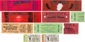Music Memorabilia:Tickets, Rolling Stones Concert Ticket Group (1975-81).... (Total: 10 Items)