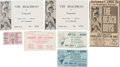 Music Memorabilia:Tickets, Beach Boys/Surf Band Ticket Group (1963-66).... (Total: 7 Items)