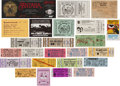 Music Memorabilia:Tickets, Concert Ticket Group (c. 1960s-90s).... (Total: 22 Items)