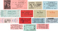 Music Memorabilia:Tickets, Rock and Roll Concert Ticket Group (c. 1950s-80s).... (Total: 14Items)