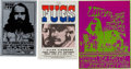 Music Memorabilia:Posters, Fugs/Lothar and the Hand People Handbill Group (1967-68).... (Total: 3 Items)