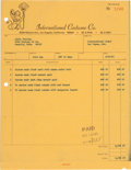 Music Memorabilia:Documents, Elvis Presley International Costume Co. Invoice (1969)....