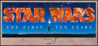 "Star Wars: The First Ten Years (The Minds Eye, 1987). Signed & Numbered Edition Banner (16.25"" X 36"")..."