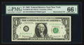 Error Notes:Mismatched Serial Numbers, Fr. 1900-B $1 1963 Federal Reserve Note. PMG Gem Uncirculated 66 EPQ.. ...