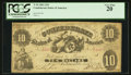Confederate Notes:1861 Issues, T10 $10 1861 PF-15 UNL.. ...
