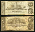 Confederate Notes:1862 Issues, T51 $20 1862. T59 $10 1863.. ... (Total: 2 notes)