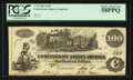 Confederate Notes:1862 Issues, T39 $100 1862 PF-2 UNL.. ...