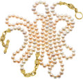 Estate Jewelry:Necklaces, Freshwater Cultured Pearl, Diamond, Gold Necklace, Judith Ripka....