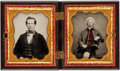 Photography:Ambrotypes, Early Photography: Ambrotypes of Traveling Actor....