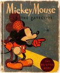 Books:Children's Books, [Big Little Book]. Walt Disney. Mickey Mouse the Detective.Racine: Whitman, 1934. First edition, first printing. Fr...