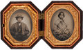 Photography:Tintypes, Early Photography: Tintypes of Indigenous Couple....