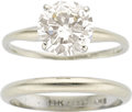 Estate Jewelry:Rings, Diamond, White Gold Rings. ... (Total: 2 Pieces)