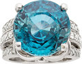 Estate Jewelry:Rings, Zircon, Diamond, White Gold Ring. ...