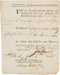 Autographs:Statesmen, John Hancock Document Signed....