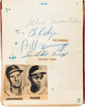 Baseball Collectibles:Others, 1950's Baseball Greats Signed Album With Satchel Paige & 3Nellie Fox. ...
