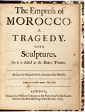Books:Literature Pre-1900, Elkanah Settle. The Empress of Morocco: A Tragedy withSculptures. London: William Cademan, 1673. First edition.Reb...