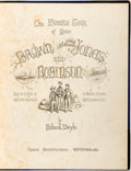 Books:Literature Pre-1900, Richard Doyle, illustrator. The Foreign Tour of Messrs. Brown, Jones and Robinson. Being the History of What They Saw, a...