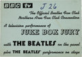 Music Memorabilia:Tickets, Beatles Juke Box Jury and Concert Ticket. Empire Theatre,Liverpool. ...