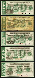 Canton, OH- Harter, Trump & Wikidal Bankers 5¢; 10¢; 25¢ (2); 50¢ Dec. 1, 1862 Wolka 0286-01, -0...