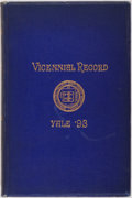 Books:Americana & American History, Vicennial Record of Yale '93. Philadelphia: InternationalPrinting Co., 1913. Copy of the Yale '93 Vicennial Reunion Poe...