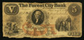 Obsoletes By State:Ohio, Cleveland, OH- The Forest City Bank $5 Jan. 5, 1859 Wolka Unlisted....