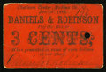 Obsoletes By State:Ohio, Chatham Center, OH- Daniels & Robinson 3¢ Jan. 1, 1863 Wolka0332-01. ...