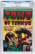 Golden Age (1938-1955):Horror, Tomb of Terror #8 (Harvey, 1953) CGC VF 8.0 Light tan to off-whitepages....