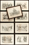 Political:Small Paper (pre-1896), Currier & Ives: Group of Nine Framed Reproduction PoliticalCartoons.... (Total: 9 )