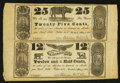 Obsoletes By State:Ohio, Cleveland, OH- Stedman Holt & Co. 12-1/2¢-25¢ May 1, 1838 Wolka0778-05 Uncut Sheet. ...