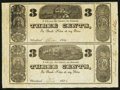 Obsoletes By State:Ohio, Cleveland, OH- N.C. Hills 3¢-3¢ 1836 Wolka 0746-04 Uncut Sheet. ...