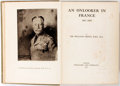 Books:Biography & Memoir, Sir William Orpen. An Onlooker in France 1917-1919. London:Williams and Norgate, 1921. First edition. Quarto. I...