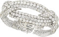 Estate Jewelry:Bracelets, Diamond, Platinum Bracelet, David Webb. ...