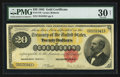 Large Size:Gold Certificates, Fr. 1178 $20 1882 Gold Certificate PMG Very Fine 30 Net.. ...