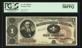 Large Size:Treasury Notes, Fr. 347 $1 1890 Treasury Note PCGS Choice About New 58PPQ.. ...