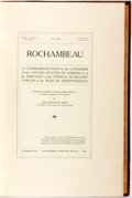 Books:Americana & American History, [Theodore Roosevelt]. A Commemoration by the Congress...of theServices of the French Auxiliary Forces in the War of Ind...