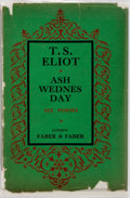 Books:Literature 1900-up, T.S. Eliot. Ash Wednesday. London: Faber & Faber, 1930.First edition, first printing. Publisher's brown cloth with ...