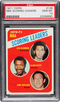 Basketball Cards:Singles (1970-1979), 1971 Topps NBA Scoring Leaders - Lew Alcindor #138 PSA Gem MT 10 -Pop One of One! ...