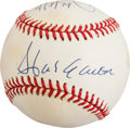 Baseball Collectibles:Balls, Hank Aaron and Al Downing Multi Signed Baseball - Record Breaking715th HR....