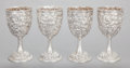 Silver & Vertu:Hollowware, A SET OF FOUR S. KIRK & SON SILVER WINE GOBLETS. Samuel Kirk & Son, Baltimore, Maryland, circa 1910. Marks: S. KIRK & SON,... (Total: 4 )