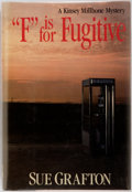 """Books:Mystery & Detective Fiction, Sue Grafton. INSCRIBED. """"F"""" is for Fugitive. New York: HenryHolt, [1989]. First edition, first printing. Publisher'..."""