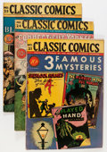 Golden Age (1938-1955):Classics Illustrated, Classic Comics First Editions Group (Gilberton, 1944-46) Condition:Average VG.... (Total: 6 Comic Books)