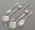 Silver Flatware, American:Kirk, A GROUP OF SEVEN S. KIRK & SON AND ONE STIEFF REPOUSSÉPATTERN SILVER FLATWARE SERVING PIECES . Samuel Kirk & So...(Total: 8 )